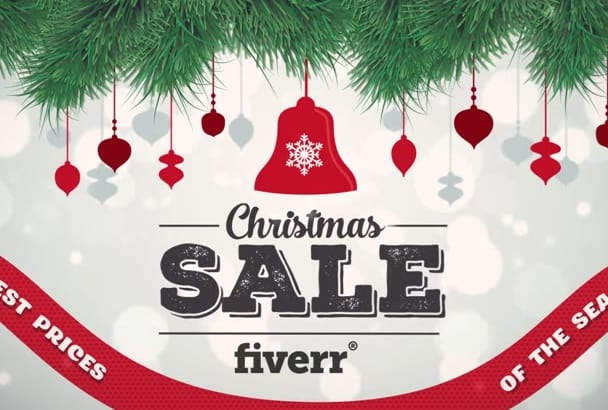 do Christmas Sales Video Promotion with Logo