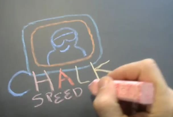 bring your Idea to life in a chalk Speed Drawing