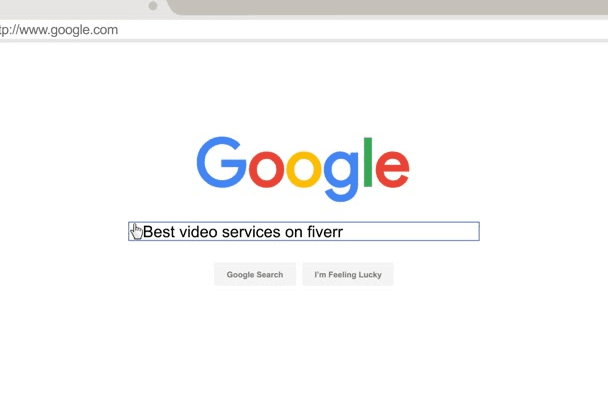 make a flat material design Google Search animation video