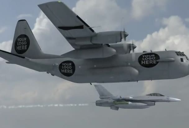 create an awesome commercial with military jet