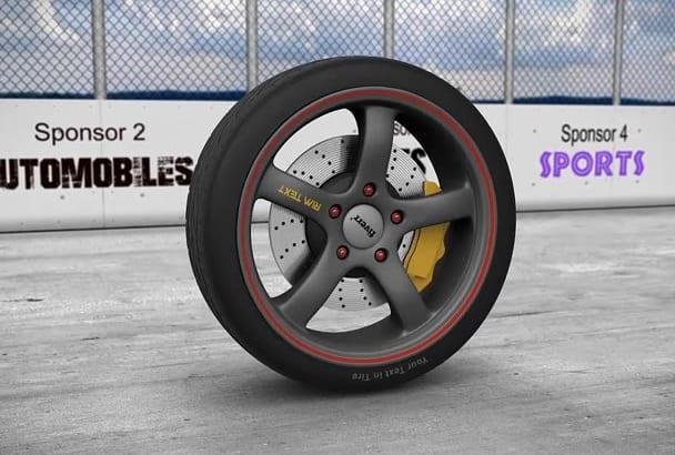 make Realistic Sport Car Tire Animation PROMO