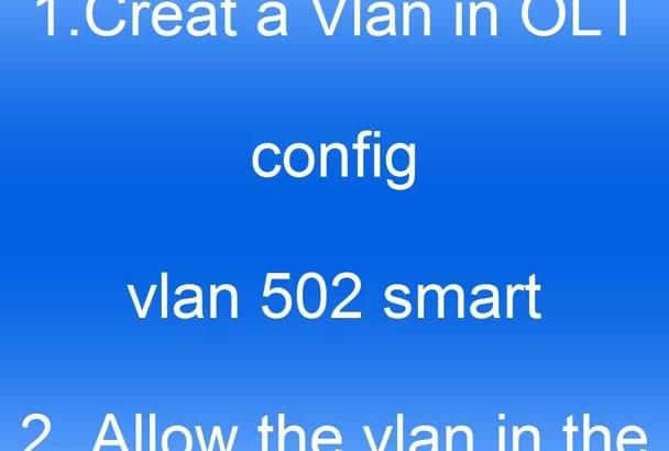 configure Huawei GPON network