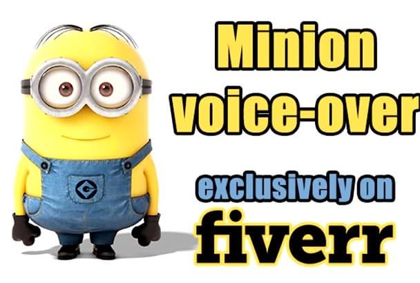 record a minion voice over