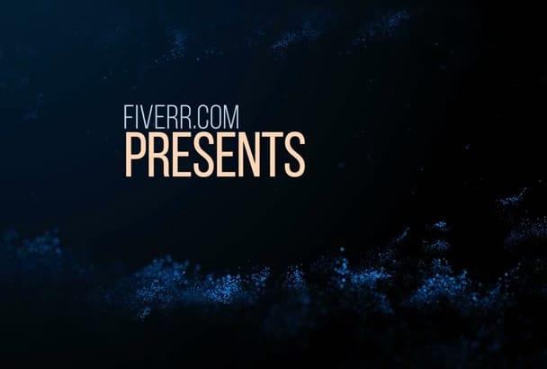 customize this EPIC Dark Lights Book Video Drama Trailer