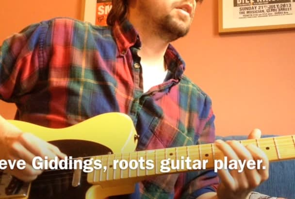 play a sympathetic electric guitar track on your project