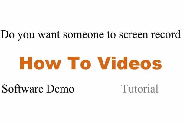 do screen record task of your choice