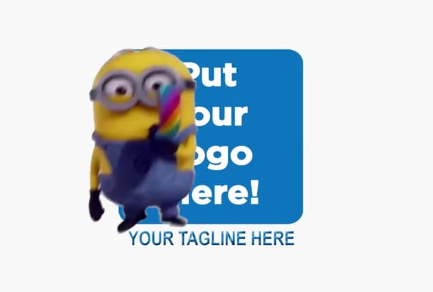 make a Funny MINION Custom Video With Logo and Tagline