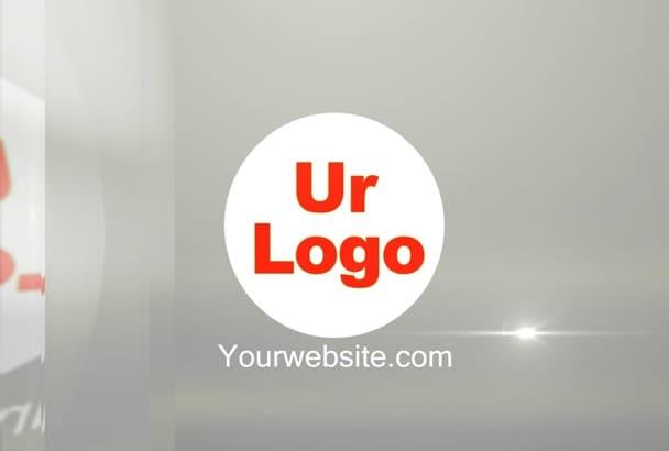 make TRANSPARENT glass logo animation video
