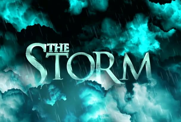 provide a high definition video with a storm effect on your text