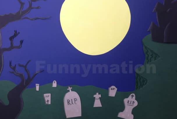 send you a HANDMADE stop motion Halloween message