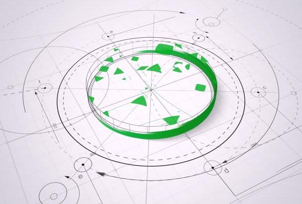 create architecture logo intro