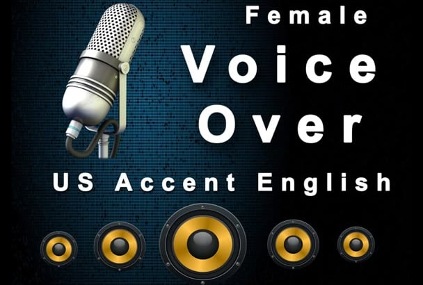 record female Voice Over in US Accent English