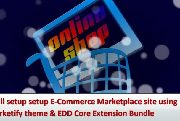setup ECommerce Marketplace using Marketify theme and EDD