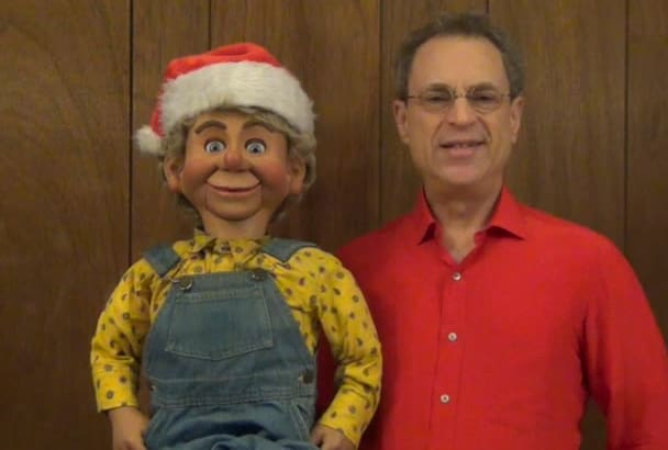 do a Christmas ventriloquist video with your message