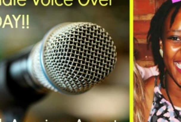record a 250 word Female American Voice Over TODAY