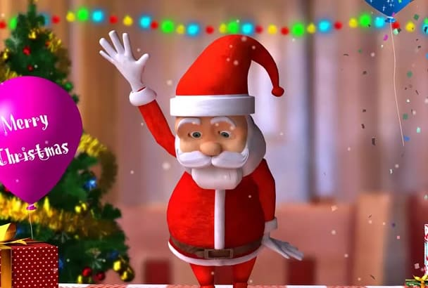 create this Christmas Funny Santa video
