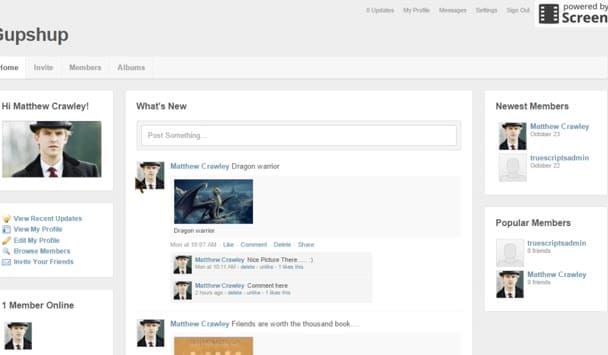 create networking website like facebook, linkedin, badoo
