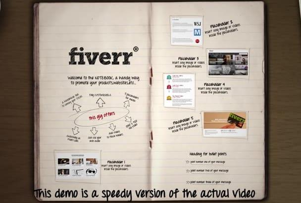 create a UNIQUE Sketch book explainer video