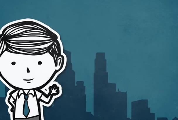 do a Cartoon Mascot EXPLAINER Corporate Video