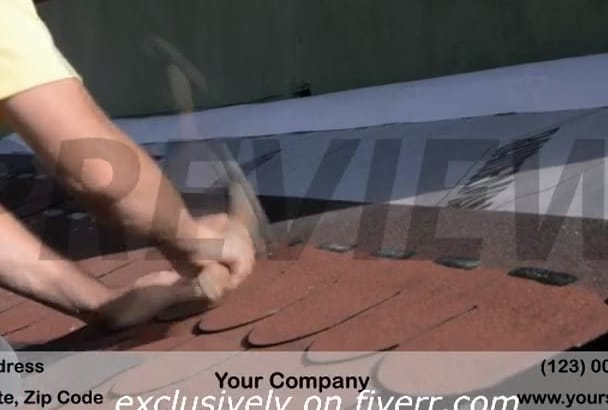 brand a video customized for ROOFING Contractor