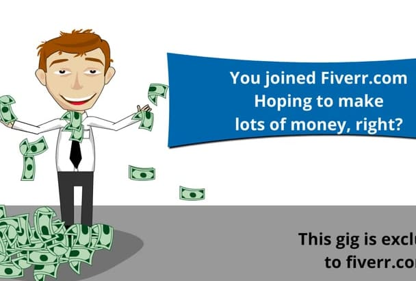 create a promotional video for FIVERR sellers