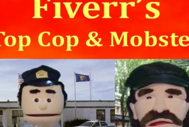 make Fun Cop Mobster Puppet or Voice Over Ad Message