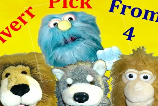 fun Animals Puppet Video or Voice Over Kids Message or Ad