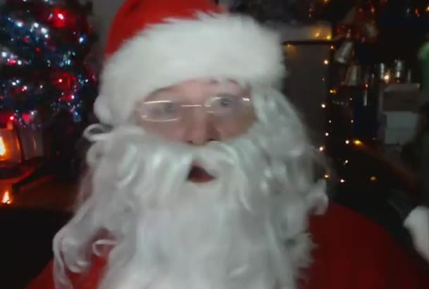 record A Video Message As Drunk Bad Santa
