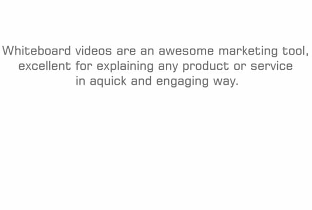 create Awesome WHITE Board Animation Video