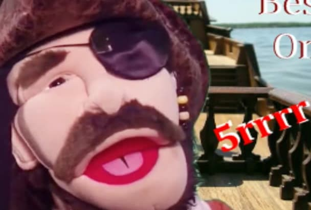 fun Pirate Puppet Video Or Voice Over Web Ad Message