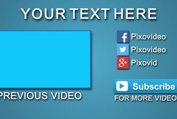 create a CLEAN YouTube Outro Video Intro
