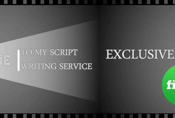 provide script writing service for Marketing video or TV Commercial