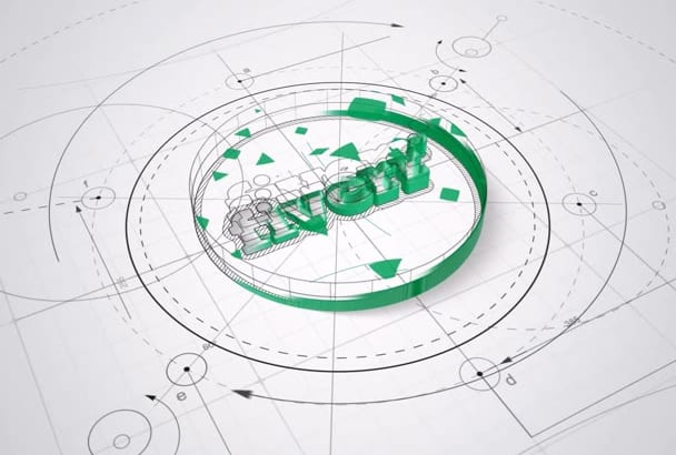 design a 3D Architect Logo Reveal Intro For You in 24 hrs