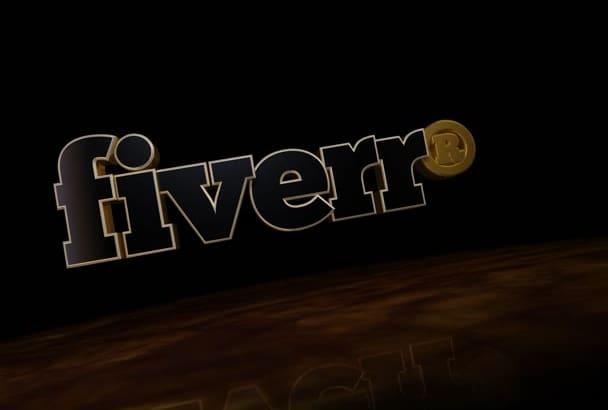 create 3D animated text, logo