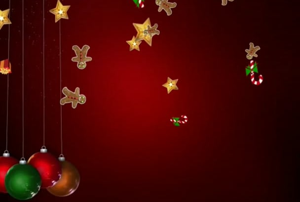 create this greeting Christmas Video