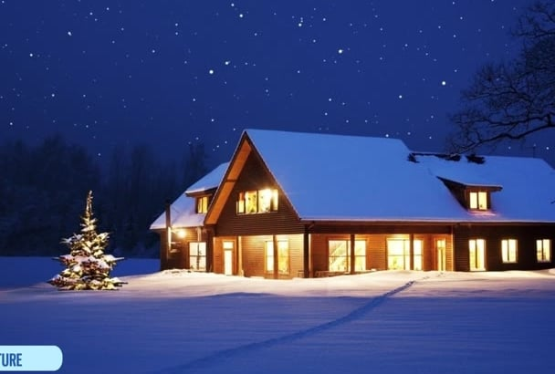 add snow to your christmas picture or video