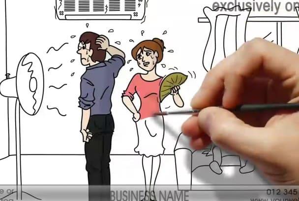 create a HVAC Whiteboard Video Animation 2