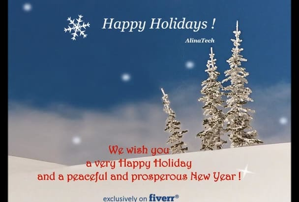 create a Christmas or New Year video greeting
