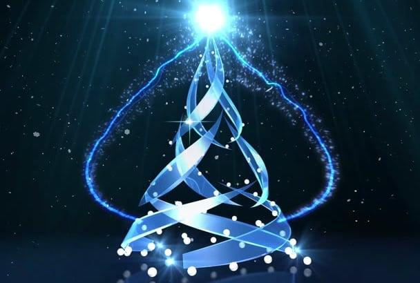magic logo and text christmas