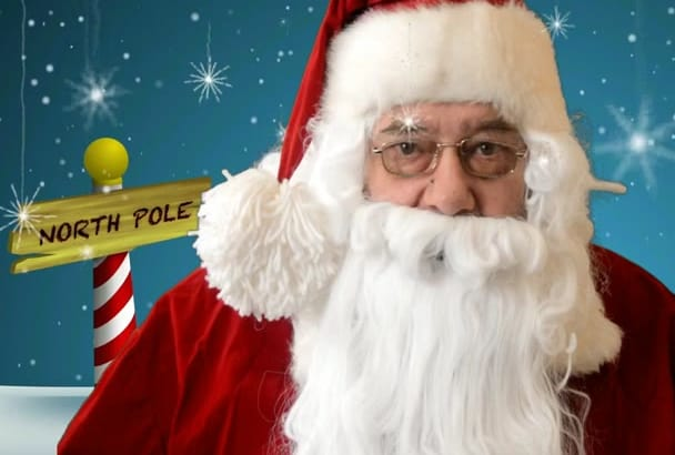 make a custom video of Santa delivering a personal message
