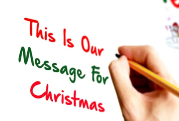 create Merry Christmas greeting video