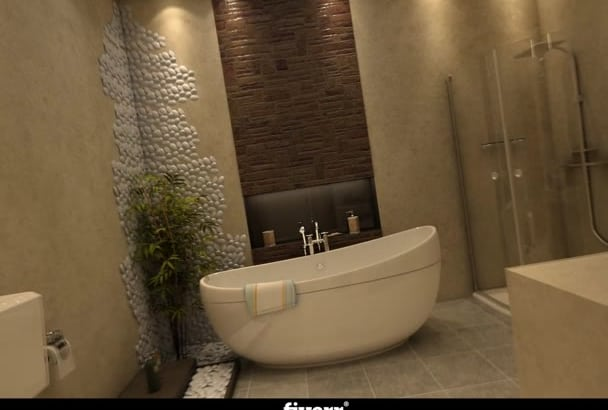 design Photorealistic 3D Interior and Exterior