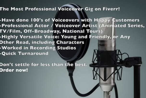 record the best male voiceover for you in 24 hours