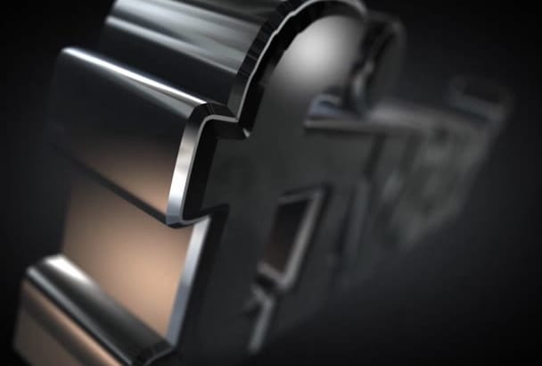 create a 3D HD chrome logo or text reveal intro