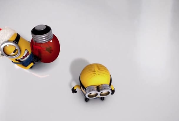 make funny MINIONs New Year intro with your logo