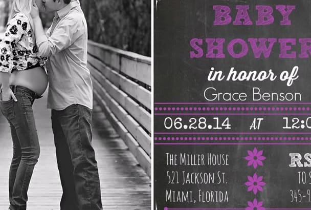 design a baby shower invitation