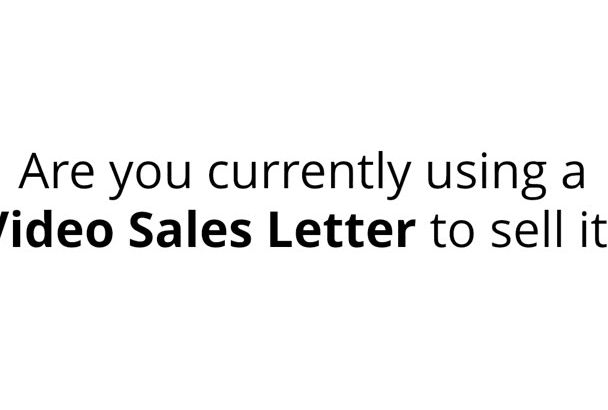 create a Video Sales Letter for Online Marketing