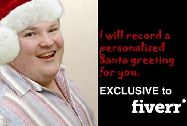 record a personalised Santa greeting
