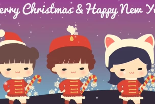 customize this cute Christmas Video Greeting