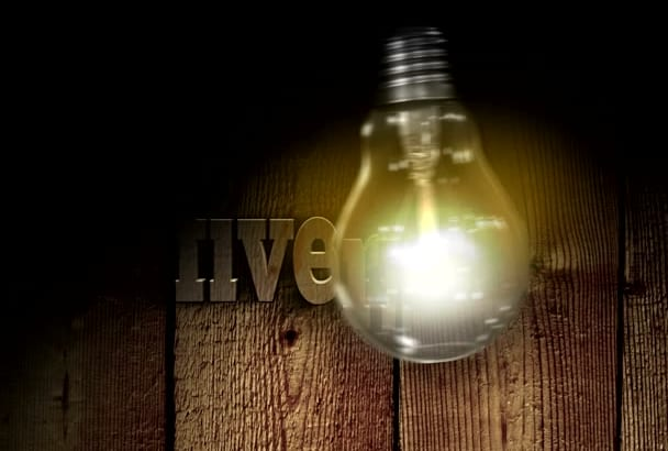 make you a cool BULB intro with your text or logo